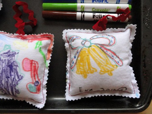 Child Drawn Christmas Ornaments