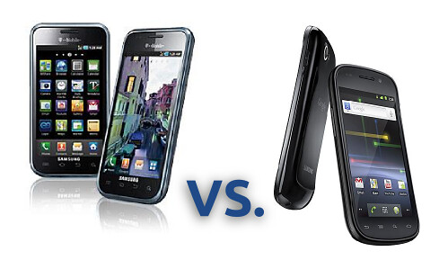 Samsung Galaxy vs Nexus S