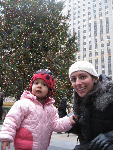 Laila and Anna at Rockefeller Center