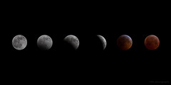Lunar Eclipse Progression (jamesridle) Tags: winter sky moon night eclipse solstice lunar helenamontana jamesridle ridlephotography