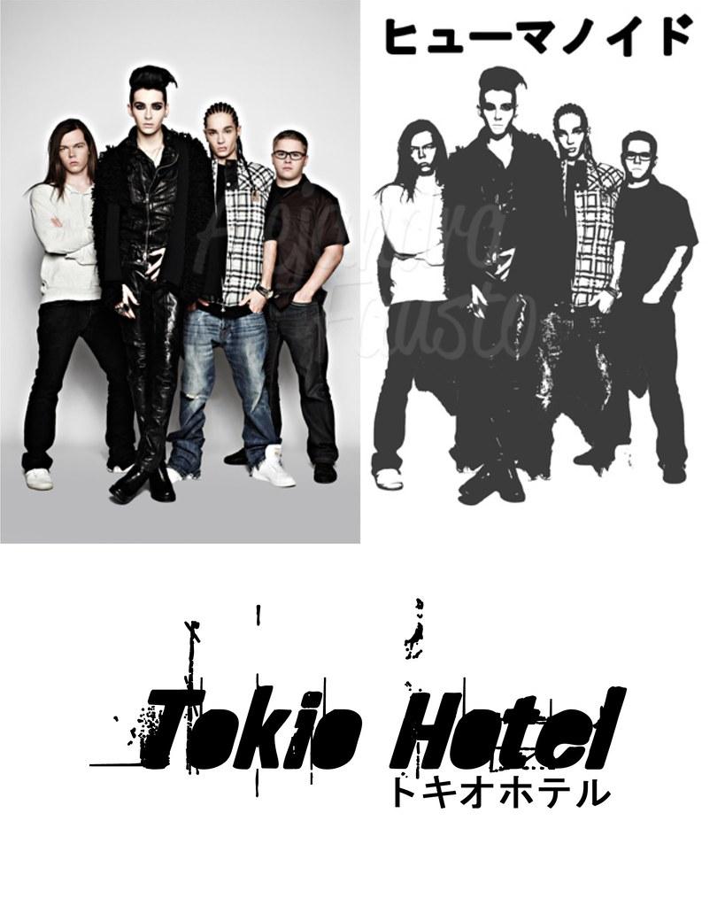 t-shirt tokio hotel sketch digital