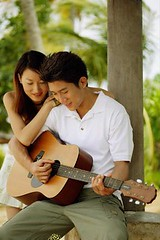 42-23431419 (traitimanhratcancoem_9xl) Tags: 2 portrait people playing smiling outdoors togetherness clothing holding singapore asia southeastasia sitting asians looking guitar chinese couples happiness romance shirts passion leisure recreation resting lookingdown musicalinstrument poloshirt relaxation adults leaning blackhair enjoyment facialexpression youngadults stringedinstrument casualclothing 20sadult
