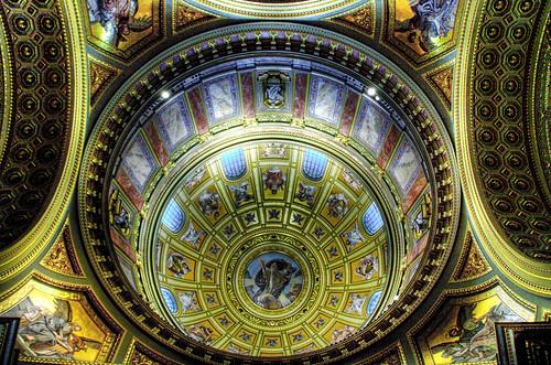 St Stephen church dome. Budapest. Cúpula de la basílica de San Esteban