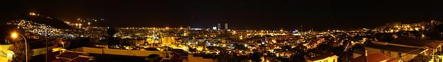 Santa Cruz de Tenerife at night - Panorama