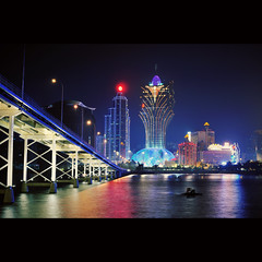 Macau City ([~Bryan~]) Tags: city light reflection night macau grandlisboa gettyimageshongkongmacauq1