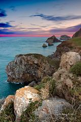 Solsticio de Invierno  /   Winter solstice (saki_axat) Tags: winter sea cliff seascape nature marina sunrise landscape mar rocks paisaje sanjuan solstice filter invierno bizkaia acantilado rocas bakio biotopo gaztelugatxe egunsentia solsticio amancer gnd8 atxulo
