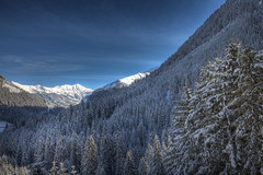 Pure Nature (Julien Prénat) Tags: blue trees sky snow mountains tree montagne alpes landscape austria tirol bleu arbres neige paysage arbre blanc hdr highdynamicrange tyrol autriche montagnes sapins canon5dmarkii canon1635mmii berwan