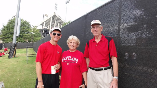 Grandpa Jim and Grandma Donna visit for a MD game
