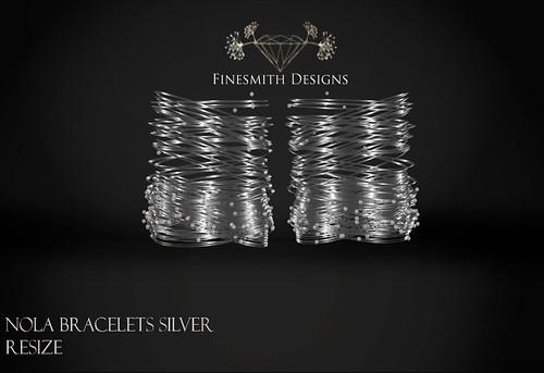 Nola bracelets silver