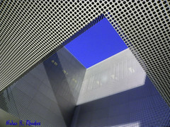 Architectural Design of Tampa Florida Museum (nrhodesphotos(the_eye_of_the_moment)) Tags: blue sky abstract metal museum architecture tampa grey design shadows florida perspective shapes angles architectural divine tampamuseumofart wwwflickrcomphotostheeyeofthemomentnrhodesphotosyahoocom dscn0738nhr
