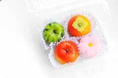 Watermelon, Persimmon, Peach and Sakura Mochi