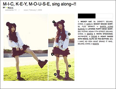 Alli's lookbook archive - 006 (Alli Jiang) Tags: girl fashion asian photo boots chinese posing style skirt mickey wear hype mickeymouse cloth screencapture asiangirl shortskirt lookbook chinesegirl dailywear mickeyhat mickeymouseshirt allijiang lookbooknu