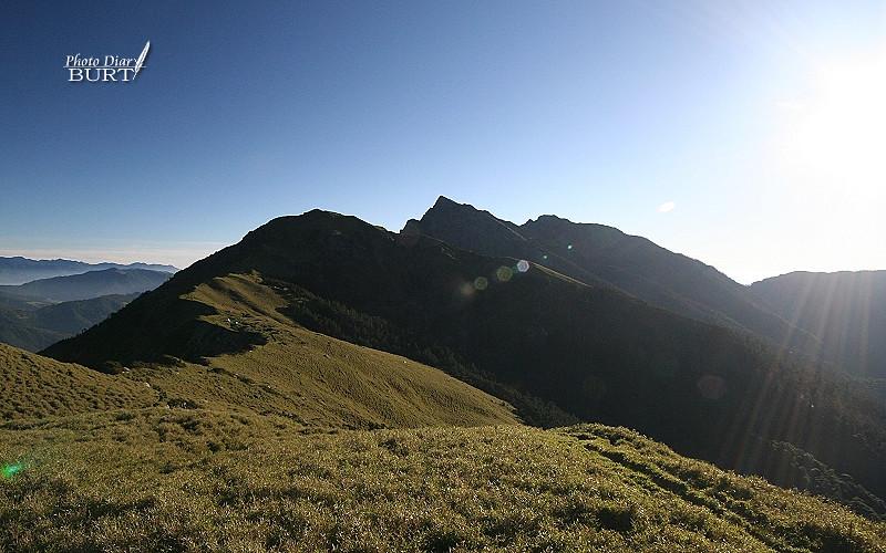 昨天曾登上的奇萊北峰
