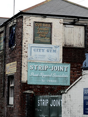 Strip Joint (iamjonathanring) Tags: old city uk brick station wall club ball point cue social strip clark portsmouth autos removal gym joint fratton southsea specialists fashioned