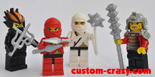 Ninja and Samurai weapons - Coated Silver