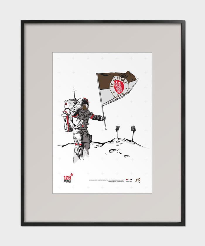 100 jahre st pauli - artill - poster