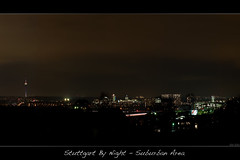 Stuttgart By Night - Suburban Area (der.br) Tags: city panorama by night germany deutschland lumix stuttgart nacht panasonic g1 baden wrttemberg lumixaward