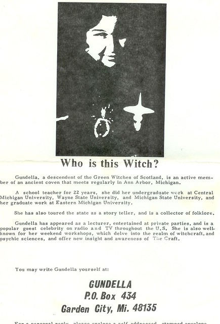 Who is this WItch? Advert for Gundella