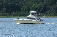 Charter fishing boat