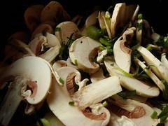 Paris Mushroom Soup: Mushroom Salad Garnish
