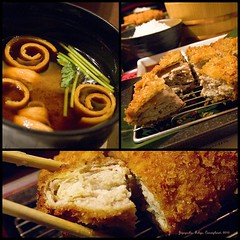 "Japanese Style Fried Pork Resturant""... (Riesling Dream) Tags: travel food japan lunch tokyo ginza    porkchop misosoup    japanesecuisine friedpork       1442mmf3556zuiko olympuspenepl1 25"