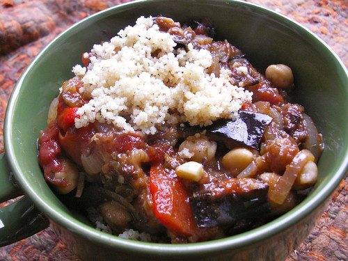 Roasted Eggplant and Chickpea Stew