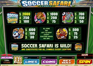 free Soccer Safari slot mini symbol