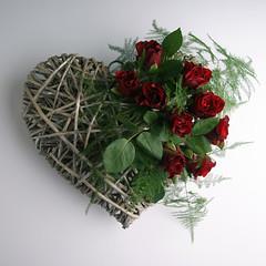 DSC01535 (DandA-foto) Tags: flowers red flower green hearts heart roos valentine rood valentinesday roze valentijnsdag