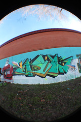 (RISION) Tags: streetart color art arcoiris photography graffiti arte toledo fotografia cumpleaos diseo fresco ask pieza rision