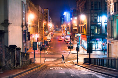 Garnethill (TGKW) Tags: road street people man night walking lights glasgow hill nightlife across sauchiehall 1609 garnethill