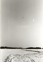 Purjelentoa Lammasjärvellä 1980