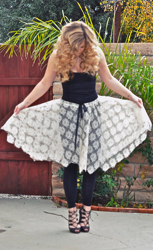 lace skirt diy