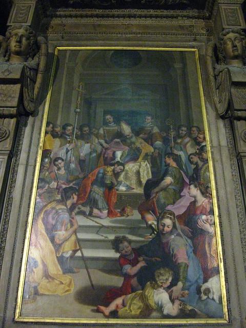 ミラノの大聖堂の絵画のフリー写真素材