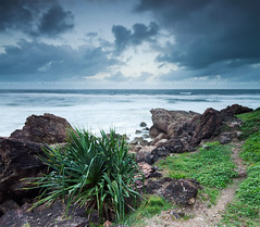 (Pawel Papis Photography) Tags: ocean sea sky cliff cloud plant seascape green beach nature water beauty grass rock stone landscape outdoors island coast scenery view miami wave australia shore qld queensland coastline goldcoast