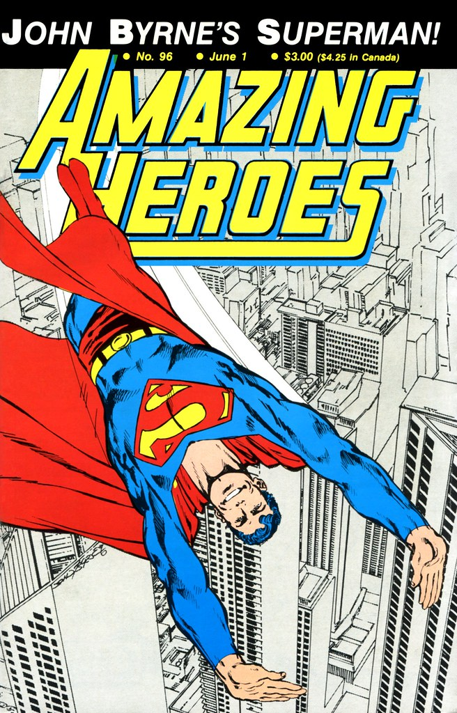 Amazing Heroes 96 Superman cover by John Byrne 1986