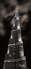 Burj Khalifa (Ahmad Al Zarouni) Tags: camera white black night clouds stand amazing dubai shot great picture khalifa ahmad ahmed  burj skycraper                 alzarouni  alzarooni   uae bushhaabmoving