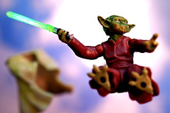 """""""Adventure. Excitement. A Jedi craves not these things."""" (JD Hancock) Tags: sky favorite clouds fun toy actionfigure star photo starwars yoda image very action good great picture best cc figure scifi excellent lightsaber wars greatest portfolio char multicolored inkitchen jdhancock"""