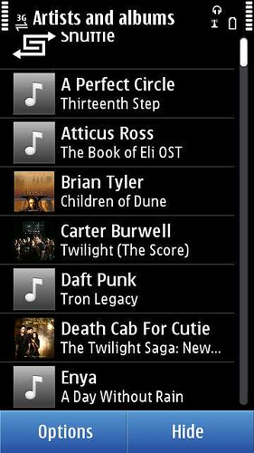 Music Libraray on Nokia N8