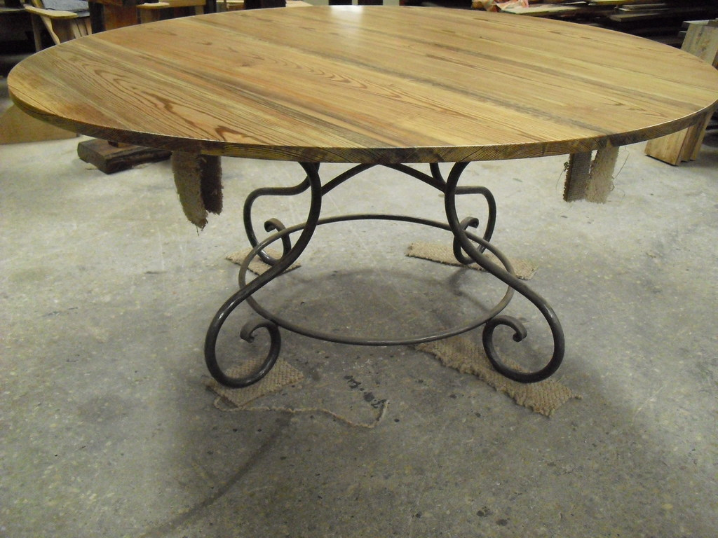 5ft Round Riverwood Table-OldGrowthRiverwood-B