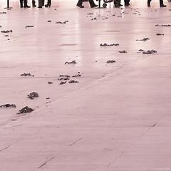 after the festivities (Jon Downs) Tags: christmas pink red white black color colour art colors canon shopping downs photo jon flickr artist colours image centre picture pic powershot photograph duotone milton keynes g11 thecentremk jondowns