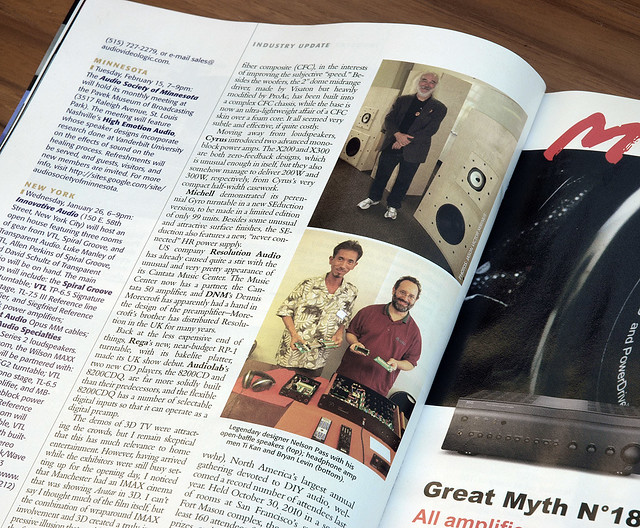 arduino audio controller in *stereophile* magazine