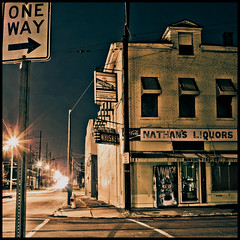 Nathan's liquors way (kikikentucky) Tags: night lights nightshot whiskey liquor louisville liquorstore