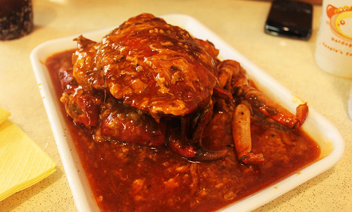 Chilli crab at Newton hawker center, Singapore, Day 70
