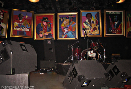 Stage at Famous Daves BBQ & Blues ~ Minneapolis, MN