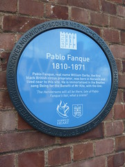 Pablo Fanque blue plaque (sleepymyf) Tags: uk england history circus norfolk norwich beatles blueplaque beingforthebenefitofmrkite pablofanque williamdarby openplaques:id=4206