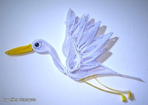 Tsuru Crane - Garça Branca