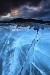 Relentless Force - Svnafellsjkull Glacier in Skaftafell, Iceland (orvaratli) Tags: winter sky mountain lake cold ice broken landscape frozen iceland crystal meadow lagoon glacier arctic clear drama skaftafell vatnajkull morain svnafellsjkull svnafell arcticphoto