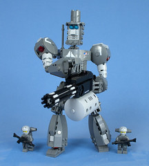 Linear Neuralnet Cyborg unit 1 (LNC-1)  04 (Happy Weasel) Tags: mountain robot iron lego lincoln mecha legion lnc1