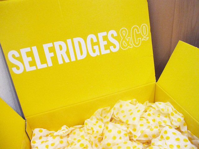 selfridges delivery box