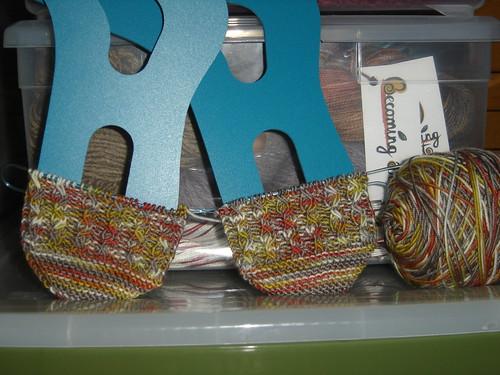 Solstice Slip Socks KAL in Bag Lady
